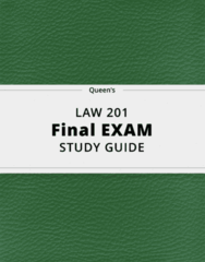 LAW 201- Final Exam Guide - Comprehensive Notes for the exam ( 37 pages long!)