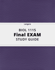 BIOL 1115- Final Exam Guide - Comprehensive Notes for the exam ( 36 pages long!)