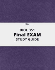 BIOL 351- Final Exam Guide - Comprehensive Notes for the exam ( 54 pages long!)