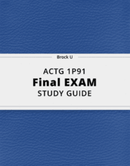 ACTG 1P91- Final Exam Guide - Comprehensive Notes for the exam ( 34 pages long!)
