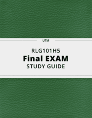 RLG101H5- Final Exam Guide - Comprehensive Notes for the exam ( 49 pages long!)