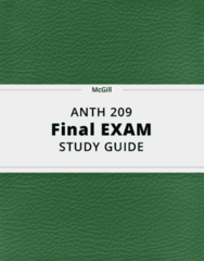 ANTH 209- Final Exam Guide - Comprehensive Notes for the exam ( 141 pages long!)