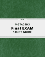 MGTA05H3- Final Exam Guide - Comprehensive Notes for the exam ( 64 pages long!)