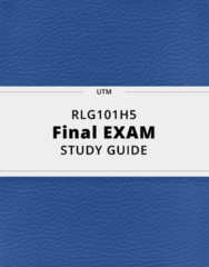 RLG101H5- Final Exam Guide - Comprehensive Notes for the exam ( 43 pages long!)