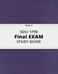 SOCI 1F90- Final Exam Guide - Comprehensive Notes for the exam ( 27 pages long!)
