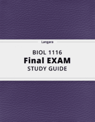 BIOL 1116- Final Exam Guide - Comprehensive Notes for the exam ( 96 pages long!)