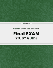 Health Sciences 3101A/B- Final Exam Guide - Comprehensive Notes for the exam ( 58 pages long!)