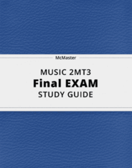 MUSIC 2MT3- Final Exam Guide - Comprehensive Notes for the exam ( 62 pages long!)