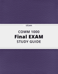 COMM 1000- Final Exam Guide - Comprehensive Notes for the exam ( 55 pages long!)