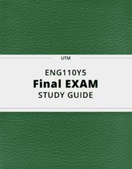 ENG110Y5- Final Exam Guide - Comprehensive Notes for the exam ( 46 pages long!)