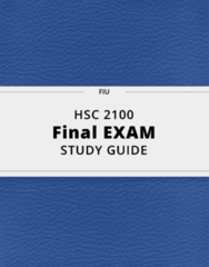 HSC 2100- Final Exam Guide - Comprehensive Notes for the exam ( 167 pages long!)
