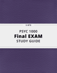 PSYC 1000- Final Exam Guide - Comprehensive Notes for the exam ( 133 pages long!)