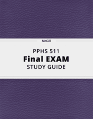 PPHS 511- Final Exam Guide - Comprehensive Notes for the exam ( 140 pages long!)