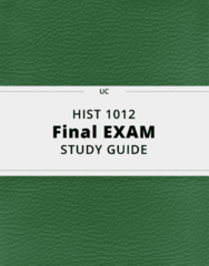 HIST 1012- Final Exam Guide - Comprehensive Notes for the exam ( 39 pages long!)