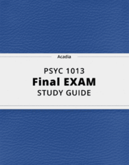 PSYC 1013- Final Exam Guide - Comprehensive Notes for the exam ( 47 pages long!)