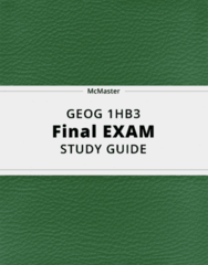 GEOG 1HB3- Final Exam Guide - Comprehensive Notes for the exam ( 50 pages long!)