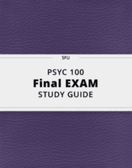 PSYC 100- Final Exam Guide - Comprehensive Notes for the exam ( 59 pages long!)