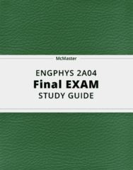 ENGPHYS 2A04- Final Exam Guide - Comprehensive Notes for the exam ( 28 pages long!)