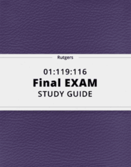 01:119:116- Final Exam Guide - Comprehensive Notes for the exam ( 45 pages long!)