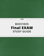 BIO310H5- Final Exam Guide - Comprehensive Notes for the exam ( 99 pages long!)