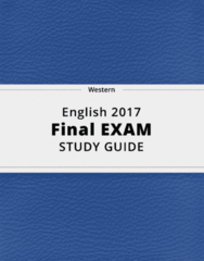 English 2017- Final Exam Guide - Comprehensive Notes for the exam ( 113 pages long!)