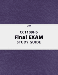 CCT109H5- Final Exam Guide - Comprehensive Notes for the exam ( 38 pages long!)