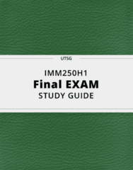IMM250H1- Final Exam Guide - Comprehensive Notes for the exam ( 34 pages long!)
