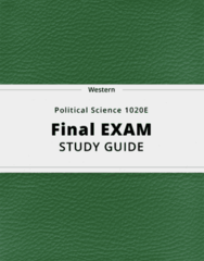 Political Science 1020E- Final Exam Guide - Comprehensive Notes for the exam ( 55 pages long!)