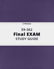 59-362- Final Exam Guide - Comprehensive Notes for the exam ( 77 pages long!)