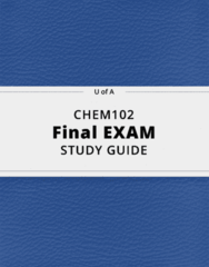 CHEM102- Final Exam Guide - Comprehensive Notes for the exam ( 37 pages long!)