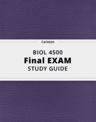 BIOL 4500- Final Exam Guide - Comprehensive Notes for the exam ( 70 pages long!)