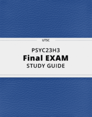PSYC23H3- Final Exam Guide - Comprehensive Notes for the exam ( 71 pages long!)