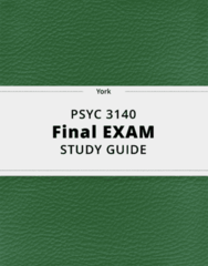 PSYC 3140- Final Exam Guide - Comprehensive Notes for the exam ( 43 pages long!)