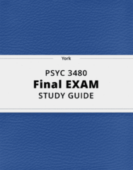 PSYC 3480- Final Exam Guide - Comprehensive Notes for the exam ( 47 pages long!)