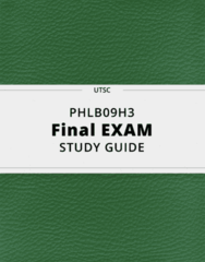 PHLB09H3- Final Exam Guide - Comprehensive Notes for the exam ( 164 pages long!)