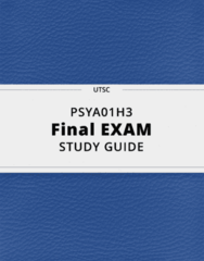 PSYA01H3- Final Exam Guide - Comprehensive Notes for the exam ( 74 pages long!)