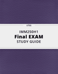IMM250H1- Final Exam Guide - Comprehensive Notes for the exam ( 79 pages long!)
