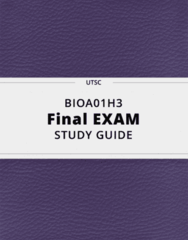 BIOA01H3- Final Exam Guide - Comprehensive Notes for the exam ( 199 pages long!)