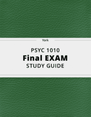 PSYC 1010- Final Exam Guide - Comprehensive Notes for the exam ( 238 pages long!)