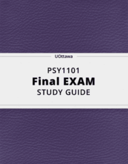PSY1101- Final Exam Guide - Comprehensive Notes for the exam ( 107 pages long!)