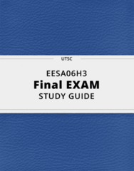 EESA06H3- Final Exam Guide - Comprehensive Notes for the exam ( 23 pages long!)