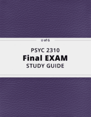 PSYC 2310- Final Exam Guide - Comprehensive Notes for the exam ( 51 pages long!)