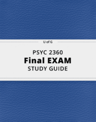 PSYC 2360- Final Exam Guide - Comprehensive Notes for the exam ( 34 pages long!)