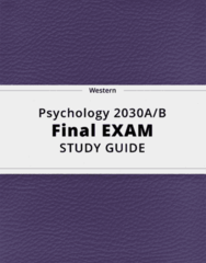 Psychology 2030A/B- Final Exam Guide - Comprehensive Notes for the exam ( 220 pages long!)
