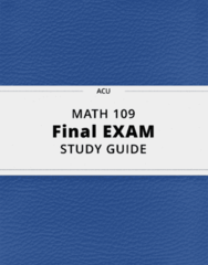 MATH 109- Final Exam Guide - Comprehensive Notes for the exam ( 55 pages long!)