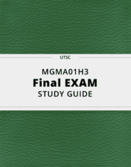 MGMA01H3- Final Exam Guide - Comprehensive Notes for the exam ( 101 pages long!)