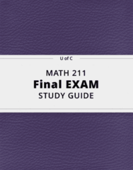 MATH 211- Final Exam Guide - Comprehensive Notes for the exam ( 116 pages long!)