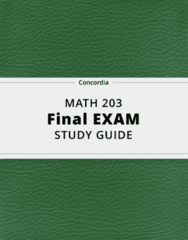 MATH 203- Final Exam Guide - Comprehensive Notes for the exam ( 46 pages long!)