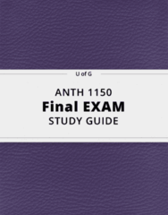 ANTH 1150- Final Exam Guide - Comprehensive Notes for the exam ( 29 pages long!)