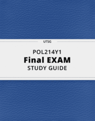 POL214Y1- Final Exam Guide - Comprehensive Notes for the exam ( 36 pages long!)